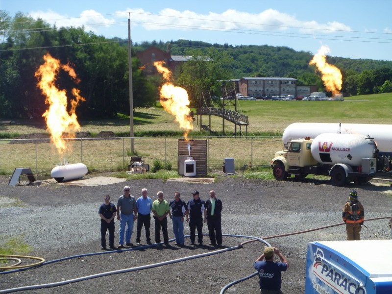 Pictured above: Attendees and leadership watch the final live burn during an Industry Responders Conference at the New York State Academy of Fire Science in Montour Falls, N.Y. Courtesy of Crystal Smith and the New York Propane Gas Association.