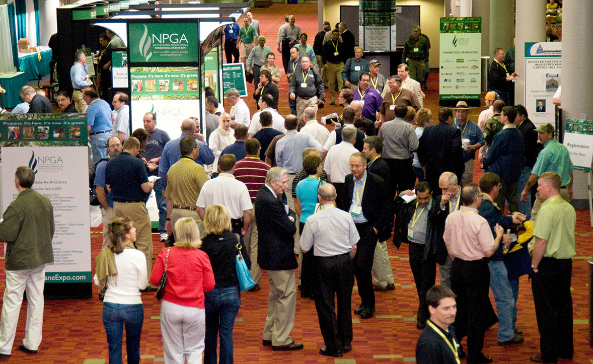 Pictured above: Attendees walk the trade show floor in Atlanta