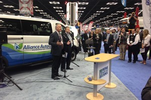 Alliance AutoGas installs bi-fuel conversion system on Ford Transit, 500X333