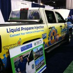 The ICOM North America booth features a vehicle that's powered by propane. Photo: LP Gas staff