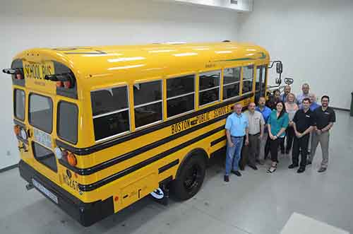 Blue Bird partners with Boston Public School District Blue Bird will showcase one of its propane buses at the DeKalb Propane Autogas Vehicle Show. Photo courtesy of Blue Bird.