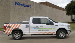 Westport Innovations Ford F150 dedicated liquid propane system