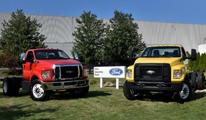 Ford released its 2016 F-650/F-750 with propane options, released in Ohio