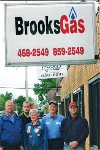 The Brooks Gas family includes, from left, Joe Brooks, Brian Brooks, Mary Ruth Brooks, John Brooks and Will Brooks.