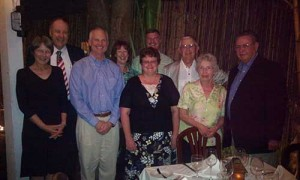 Grooms, fourth from left, invited Wendy Gorham, far left, and her husband, Mike Gorham, second from left, to join members of the Iowa Propane Gas Association for dinner in Key West, Fla.