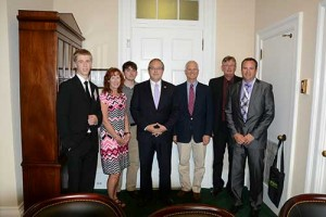 Grooms seldom misses Propane Days in Washington, D.C. At this year's lobbying event, Rep. David Young, R-Iowa, fourth from left, met with Grooms and several other propane industry members from Iowa.