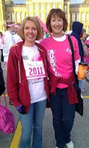 Grooms, right, shown here with her friend Deb Dullard, says she had many support lines when she had cancer.