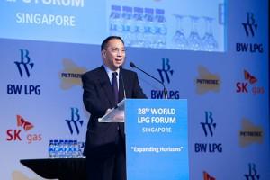 WLPGA President Kimball Chen speaks at World LPG Forum