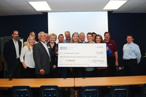 Friendswood Junior High staff receives donation from PERC for converting to autogas school buses