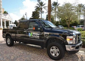 Alliance AutoGas rolls into Reunion Resort in Orlando for the LP Gas Growth Summit in this propane autogas-powered Ford F-250.