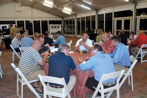 The LP Gas Growth Summit offers several networking events, including this barbecue.