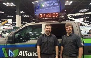 Alliance AutoGas converts vehicle at the Work Truck Show, goes on cross-country journey with truck