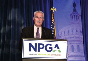 McClendon accepts NPGA's Distinguished Service Award in 2015. Photos courtesy of Daryl McClendon.