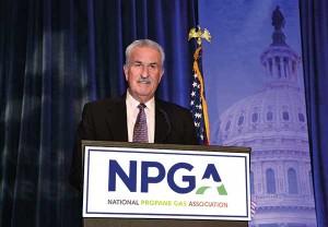 McClendon accepts NPGA's Distinguished Service Award in 2015. Photos courtesy of Daryl McClendon.
