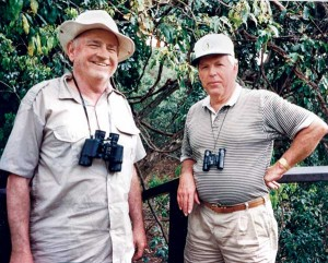 Nunan, left, loved to travel. Here he's shown in Africa with Larry Summers, president of Petrolane. Photos courtesy of the Nunan family and the Propane Education & Research Council.