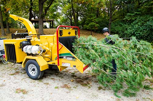 Vermeer's BC1000XL brush chipper operates on gasoline or propane. Photo: Vermeer