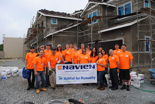 Navien donates tankless water heaters to Habitat for Humanity homes in California