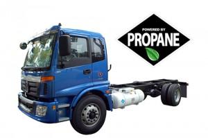 Alkane Truck's Class 7 truck runs on propane aautogas.