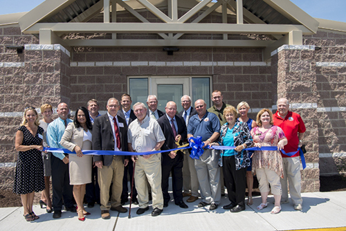Sharp Energy hosts a ribbon-cutting ceremony for its new headquarters facility in Georgetown, Del. Photo courtesy of Chesapeake Utilities Corporation.