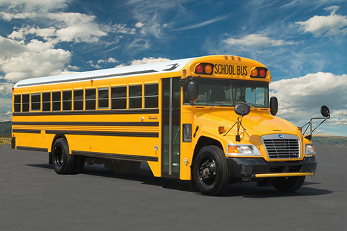 Two South Carolina school districts receive Blue Bird Vision Propane school buses. Photo courtesy of Blue Bird