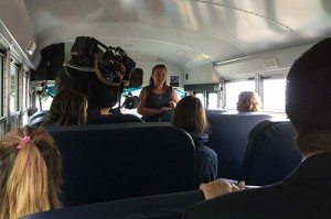 Regina Catholic School Division hosted an event to educate community members about the new propane-fueled buses. Photo courtesy of Regina Catholic School Division