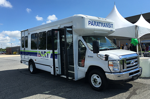DTC committed to purchase 130 propane autogas fueled DART paratransit vehicles. Photo courtesy of Roush CleanTech.