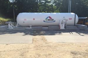 Hocon Gas installed an 18,000-gallon tank for Waterbury Public Schools. Photo courtesy of Hocon Gas.