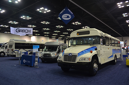 Blue Bird will showcase some of its propane bus options at BusCon 2016. Photo courtesy of Blue Bird.