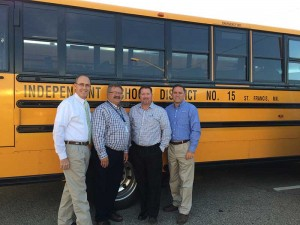 St. Francis Schools in St. Francis, Minnesota, received a $2,500 award from PERC in 2015 for its commitment to using propane autogas buses. Photo Courtesy of CleanFuel USA