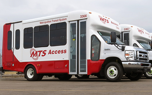 The San Diego Metropolitan Transit System (San Diego MTS) committed 77 of its buses to propane autogas. Photo courtesy of San Diego MTS.