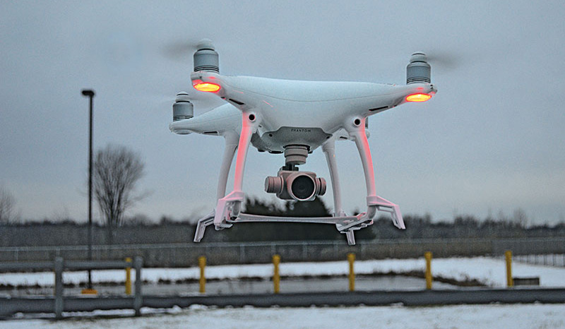 Drones are taking on a larger role in the propane industry. Photos by Allison Barwacz