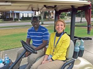 Ogbidek Nigeria's Ogbonnaya Agbor, left, and Florida Public Utilities' Lyn Cacella.