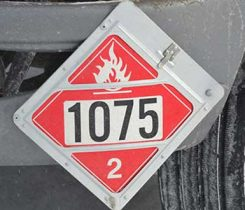 safety placard 1075. Photo by Kevin Yanik
