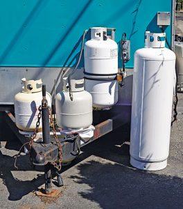propane cylinders. Photo: iStock.com/Joe_Potato