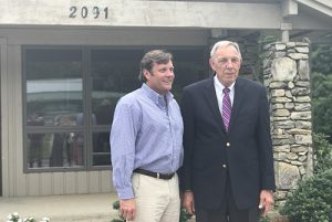 Jessie Johnson, right, helped to mentor Stuart Weidie in his time at Blossman Gas. Photo courtesy of Blossman Gas
