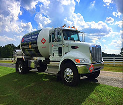 Fueling FAA Truck from Southern States Cooperative. Photo courtesy of Southern States Cooperative.