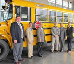 IC Bus delivered CE Series propane-powered school buses to Cook-Illinois Corp. Photo courtesy of Navistar