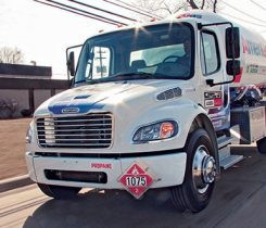 Propane retailers help to drive growth with each new delivery of propane. Confidence among businesses and consumers is yet another driver of growth. Photo courtesy of Freightliner Custom Chassis Corp.
