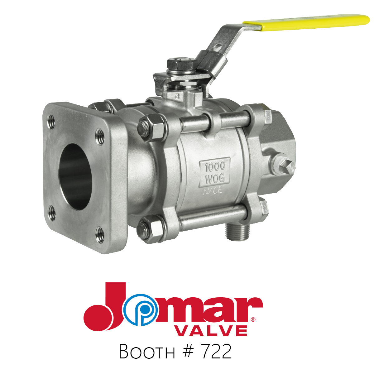 Jomar Valve's threaded (T-SS-1000N-4B) end connection propane truck valve. Photo courtesy of Jomar Valve