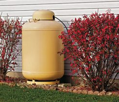 propane tank residential home. Photo: iStock.com/DonNichols
