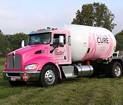 Each company pledged to donated $1 for every delivery stop of bulk propane. Photos courtesy of Fuel for Cure.