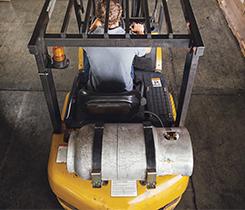 Propane powered forklift. Photo: iStock.com/richlegg