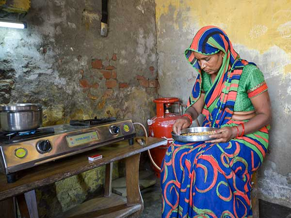 About 2.9 billion people still cook using biomass as fuel. Propane is a way to move away from this practice. Photo courtesy of the World LPG Association.