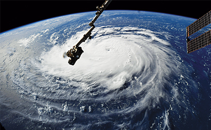 Hurricane Florence should not impact propane supply this winter. Photo courtesy of NASA