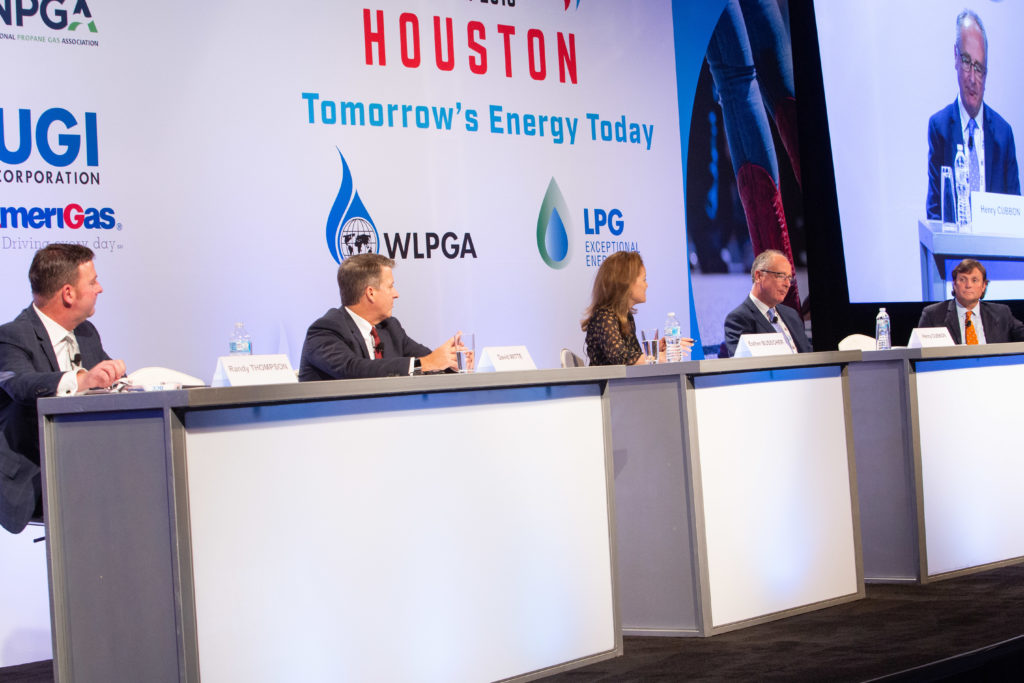 """Panelists from the """"Tomorrow's Energy Today"""" roundtable discuss the future role of propane in the energy market. Photo courtesy of the World LPG Association"""