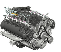 Roush CleanTech's autogas engine. Photo courtesy of Roush Cleantech