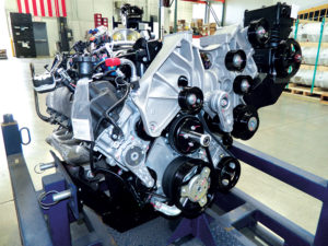 Roush CleanTech's autogas engine is certified to CARB's optional low oxides of nitrogen emissions standard – for heavy-duty engines with 0.02 grams per brake horsepower-hour. Photo courtesy of Roush Cleantech