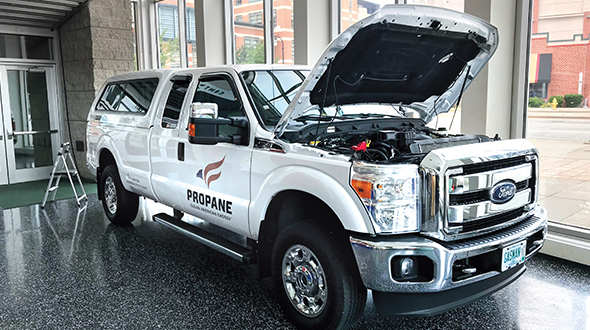 According to PERC, propane autogas vehicles cost 27 cents per mile to operate. Diesel is about 10 cents more expensive in operational costs. Photo by Joe McCarthy