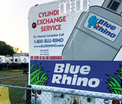 Blue Rhino, Ferrellgas' cylinder exchange division. Photo By Gary Nylander