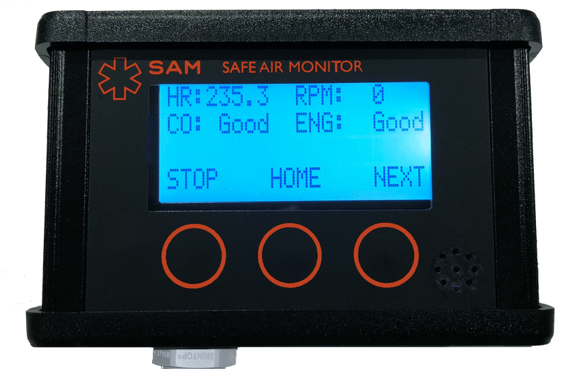 SAM uses an electrochemical sensor technology to calculate CO concentrations. Image courtesy of Safety Technologies